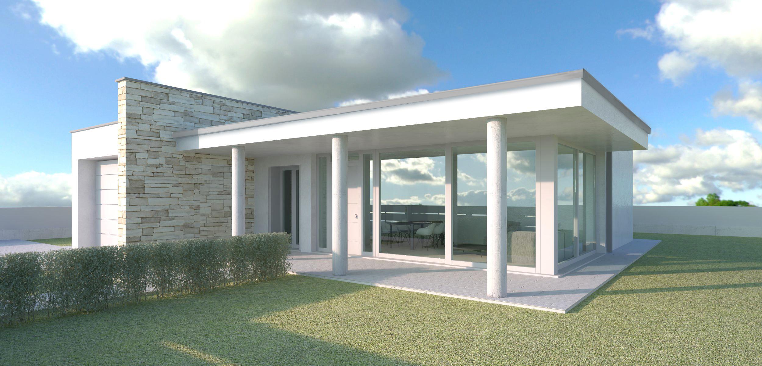 Ville su un piano best cinzia casa piccola e su un unico for Progetto ville moderne nuova costruzione